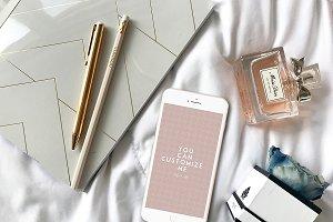 Modern Femme Styled Iphone Mockup #4