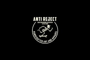 Anti Reject Club Logo Template