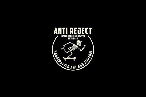 Anti Reject Club Logo Template