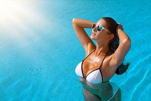 beautiful girl in bikini
