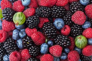 Berries as background