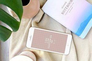 Modern Femme Styled Iphone Mockup #3