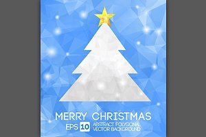 Christmas Tree Polygonal Design