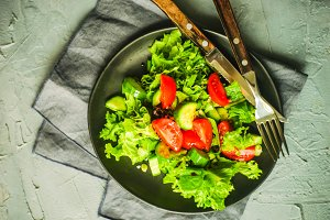 Healthy vegetable's salad