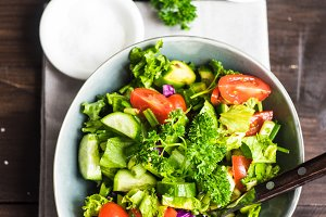 Healthy vegetable salad