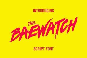 Baewatch Script Font