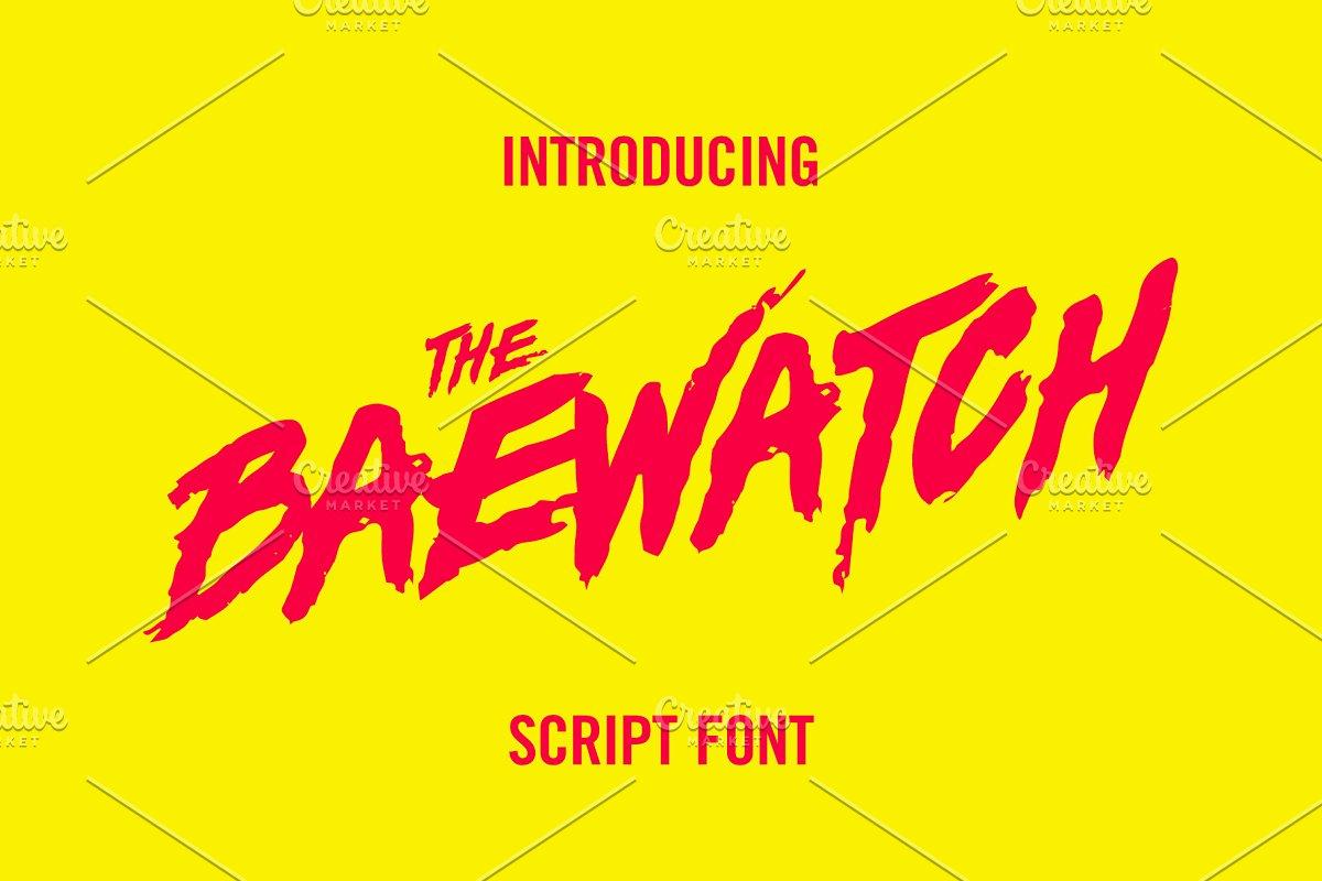 Baywatch Script Font