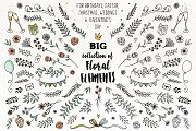 Big Collection of Floral Elements