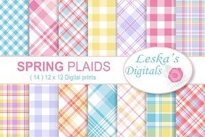 Spring Plaids Digital Paper