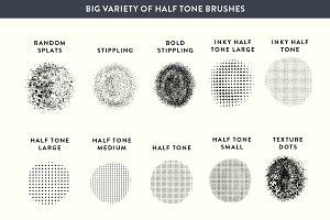 Procreate Halftone + Stippling Set