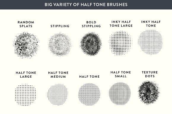 Procreate Halftone Stippling Set