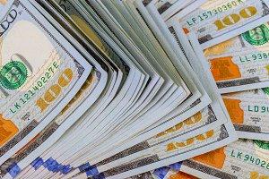 Dollars Closeup Concept. Cash Money