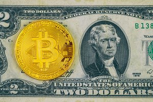 Bitcoin for a two dollar US
