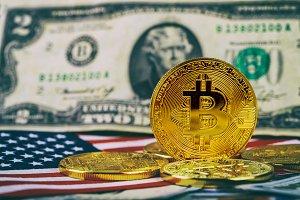 Coins of bitcoin cash for a dollar