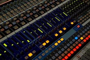 Sound control panel. Sliders