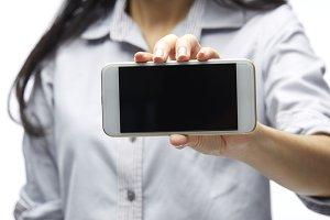 Mockup Copyspace Hands Mobile Phone Concept
