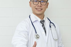 Male Doctor standing In The Hospital Or Office