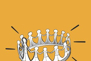illustration of leadership concept