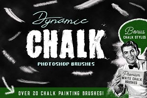 Photoshop brushes chalk & Styles