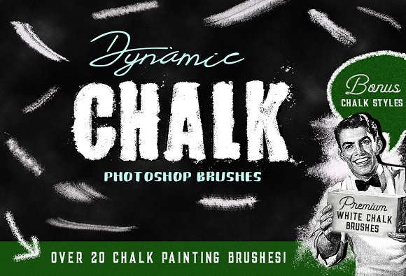 Photoshop Brushes Chalk Styles