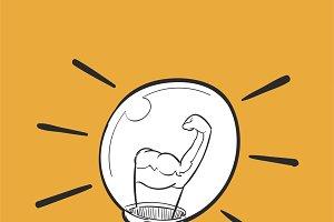 Illustration of power strength