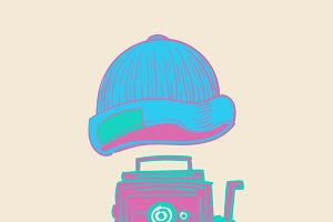 Illustration of hipster style