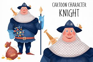 Cartoon cute Knight character