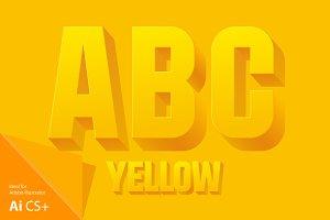 Vector illustration of 3d alphabet
