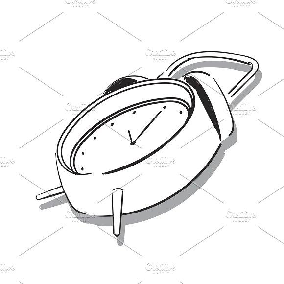 Drawing Of Alarm Clock