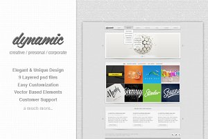 Dynamic - Multipurpose PSD Template
