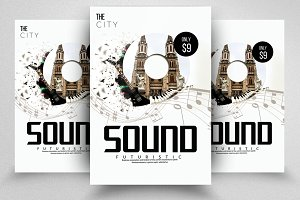 Electro Music Sound Flyer Templates