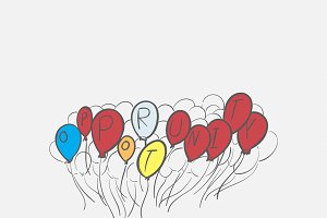 Hand drawn illustration of balloons