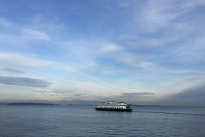 Seattle Ferry Sailing in Puget Sound