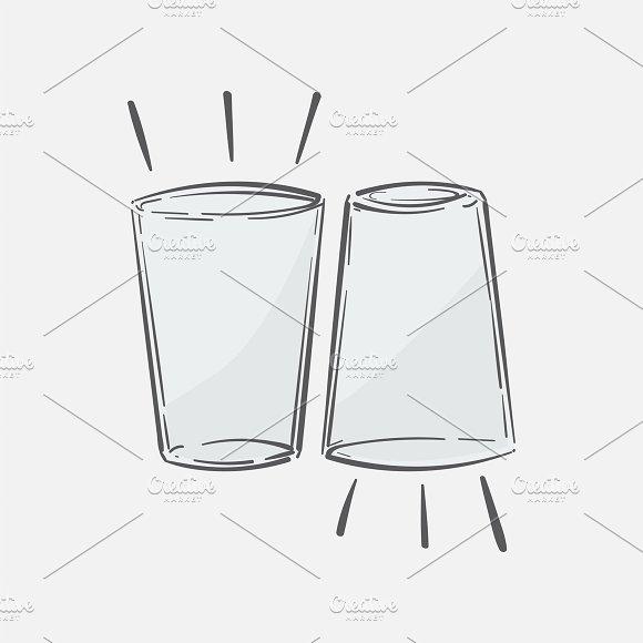 Illustration Of Two Glasses