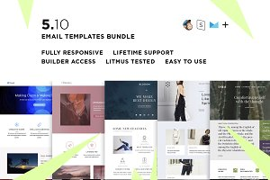 5 Email templates bundle X