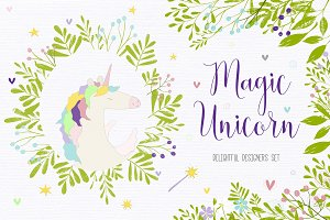 Magic Unicorn Graphics Bundle