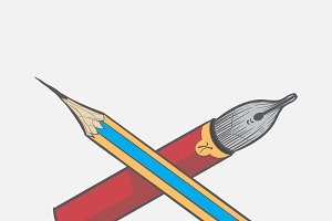 Illustration of pencils