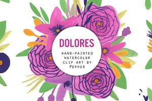 Purple Watercolor Clip Art