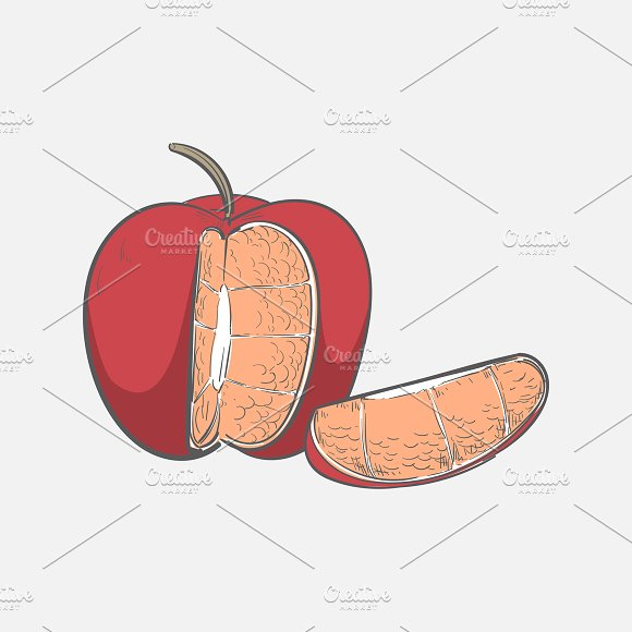 Illustration Of An Apple Cake