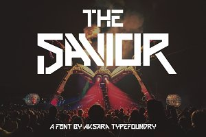 The Savior | Futuristic Font