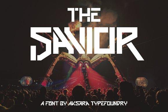 The Savior Futuristic Font