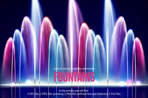 Fountains Realistic Set