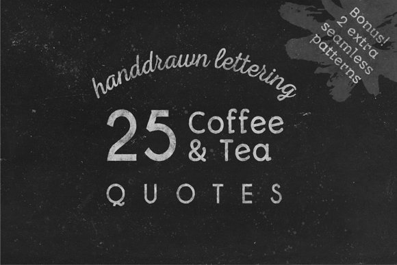 Coffee Tea Lettering