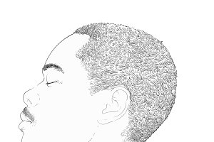 Illustration of human face