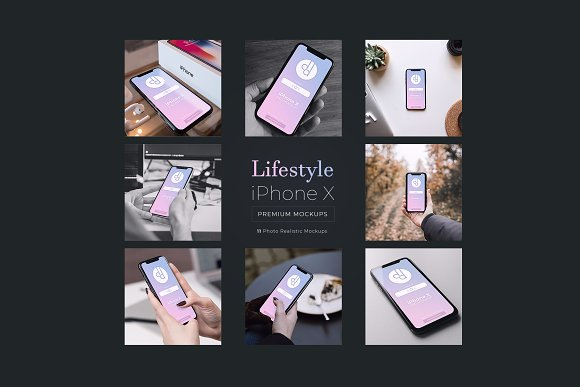 Download 11 iPhone X Lifestyle Mockups