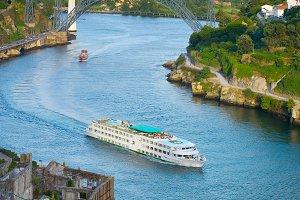 Cruise ship river Porto Portugal