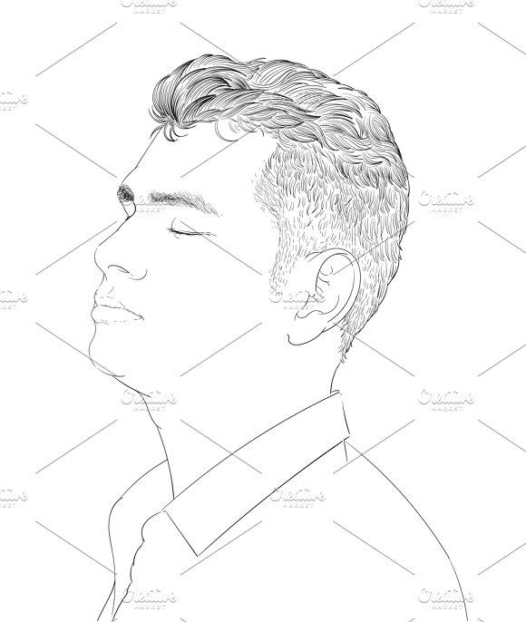 Illustration Of Human Face