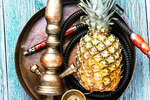 Stylish pineapple shisha