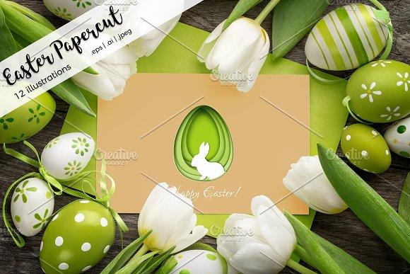Easter Papercut Illustrations
