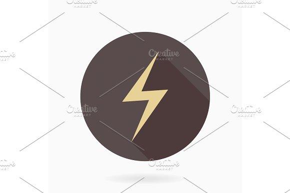 Fine Vector LightningFlat Icon With Lightning